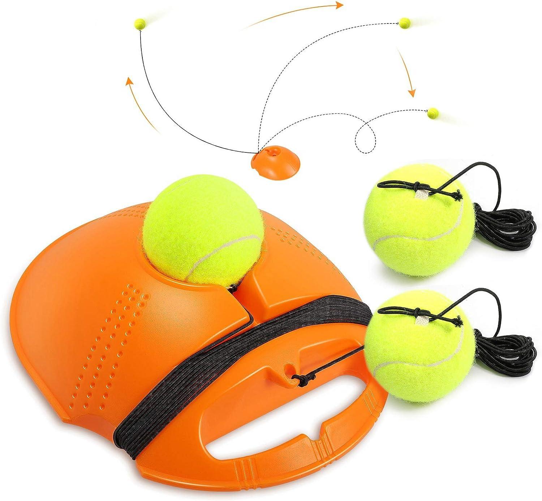 Buluri Entrenador de Tenis con Cuerda Elástica de Goma Entrenador de Pelota de Tenis autopráctica de Tenis Práctica Entrenamiento para Principiantes