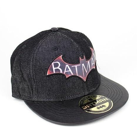 Batman Logo Hombre Gorra De Béisbol - Arkham Knight Denim Snapback ...