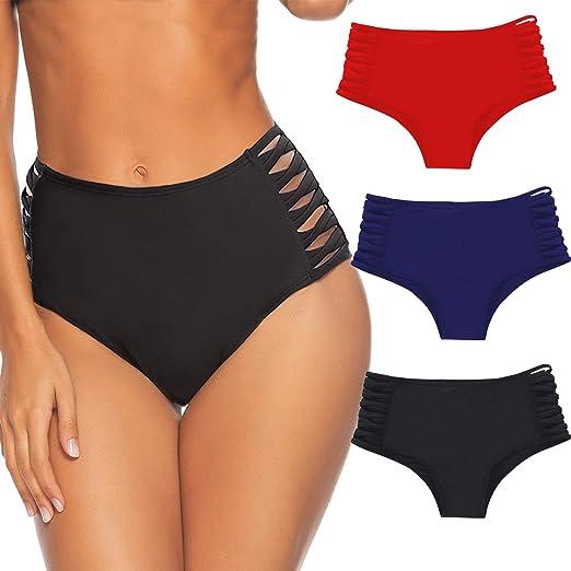 731ca94541 Amazon.com: American Trends Womens High Waisted Swimsuit Bikini Bottoms  Bathing Suit Cheeky Swim Shorts for Women: Clothing