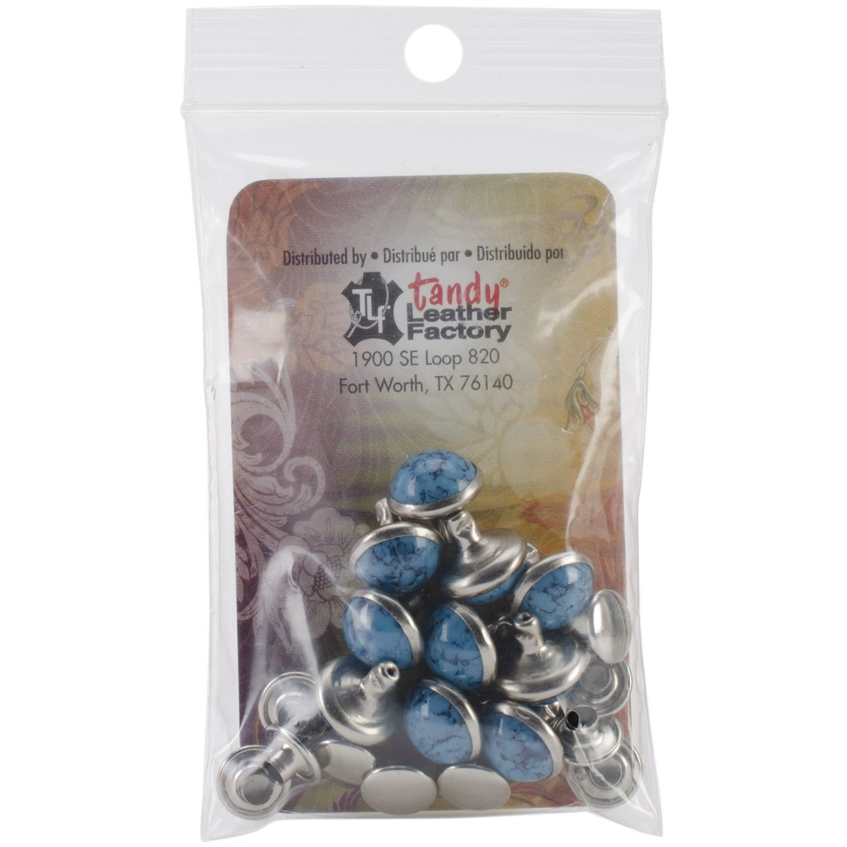 Tandy Leather Turquoise Synthetic Rivet 10 mm 10/pk 1357-04