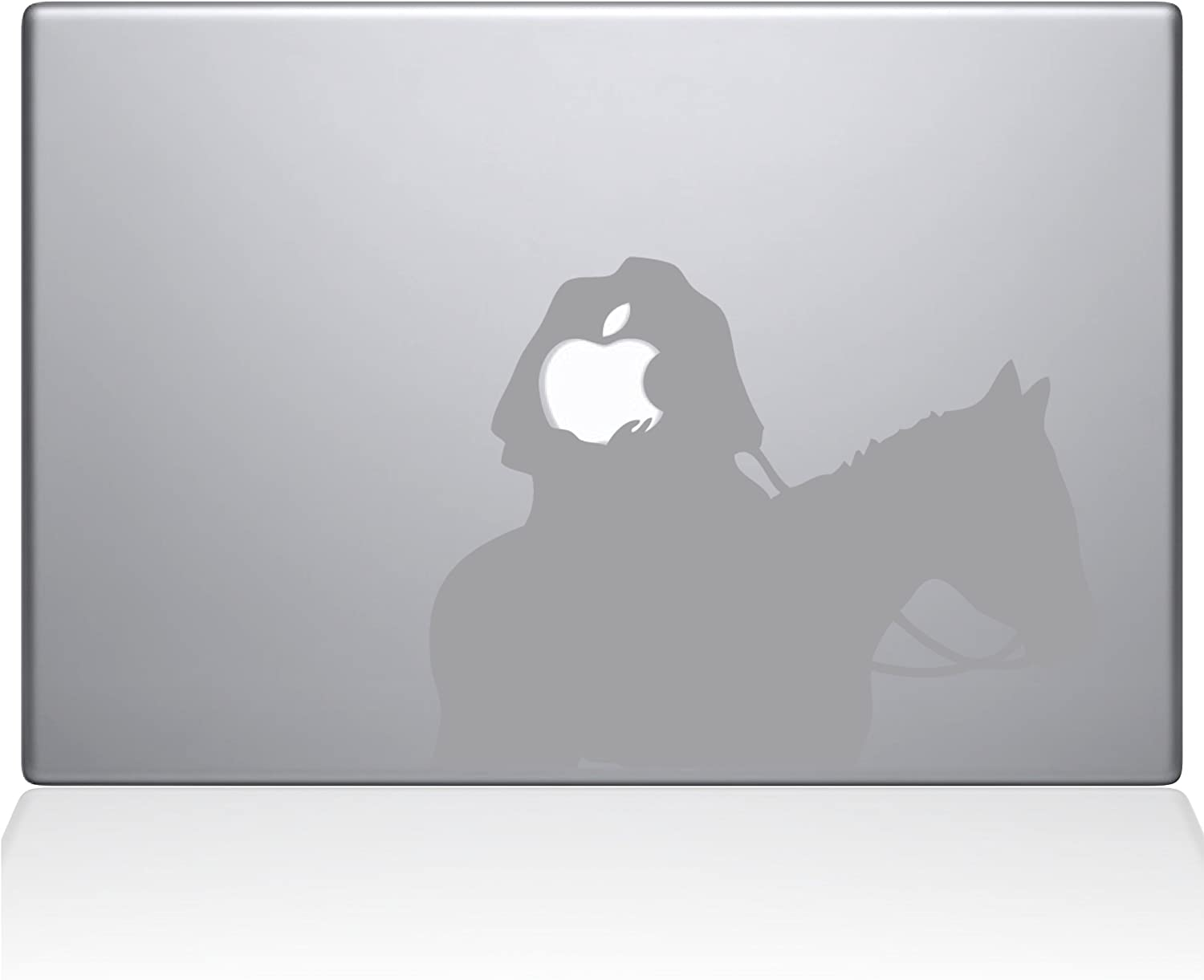 "The Decal Guru Headless Horseman MacBook Decal Vinyl Sticker - 15"" MacBook Pro (2015 & Older) - Silver (1080-MAC-15P-S)"