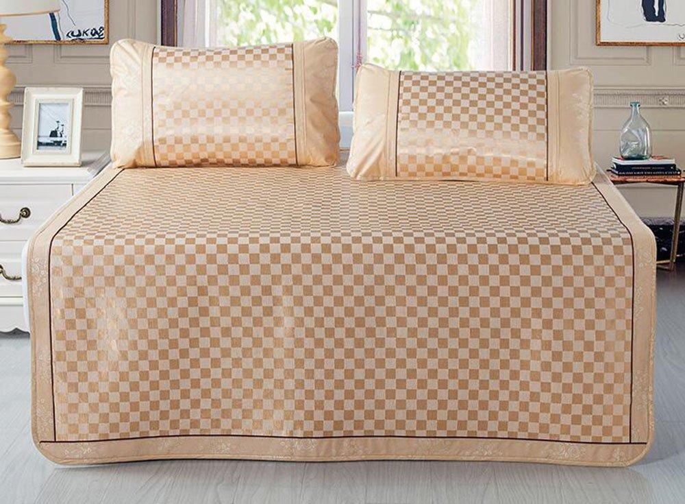 Coole Matratze EIS-Seidenmatte dreiteilige 1,8m Faltbare, klimatisierte Matte 1,5 Meter Einzel-Doppelbett-Sommermatte Coole Bambusmatte (Farbe   B7, größe   180  200cm) B2 150195cm