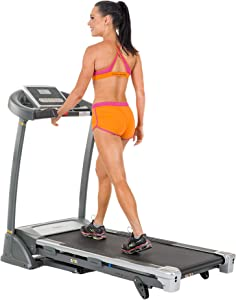 Sunny Health & Fitness SF-T7604 Motorized Treadmill, Grey