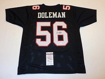73922883446 Chris Doleman Autographed Jersey - black HOF 12 Witness - JSA Certified -  Autographed NFL Jerseys