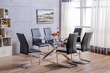 Sedie Per Sala Da Pranzo : Leonardo set di tavolo e sedie per sala da pranzo tavolo in