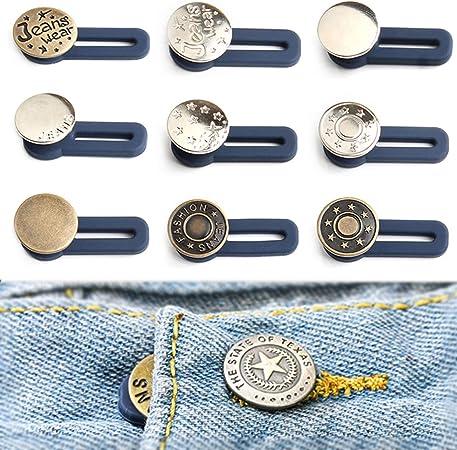 20 Pezzi Bottoni istantanei No Sew Instant Button Alloy Bottoni Bottoni Jeans Staccabili Bottoni Jeans Di Ricambio per pantaloni in jeans