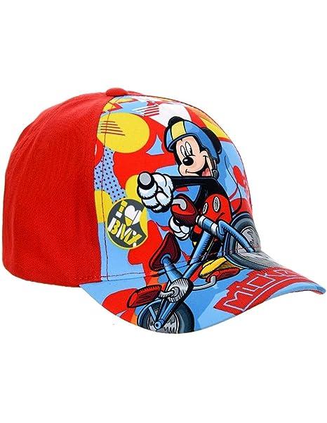 Mickey Mouse Gorro - para niño azul rojo 54 cm (6-9 años)  Amazon.es ... e06d94eac25