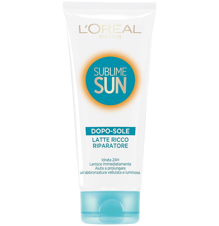L'Oréal Paris Protezione Solare Sublime Sun, Latte Doposole Ricco Riparatore, Idrata per 48h*, 200 ml A7004413