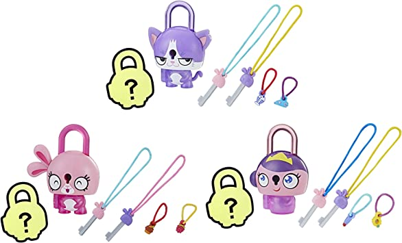 Lot of 3 Lock Stars Series 1 With Mystery Surprise Hasbro Toys Charms NEW Sealed