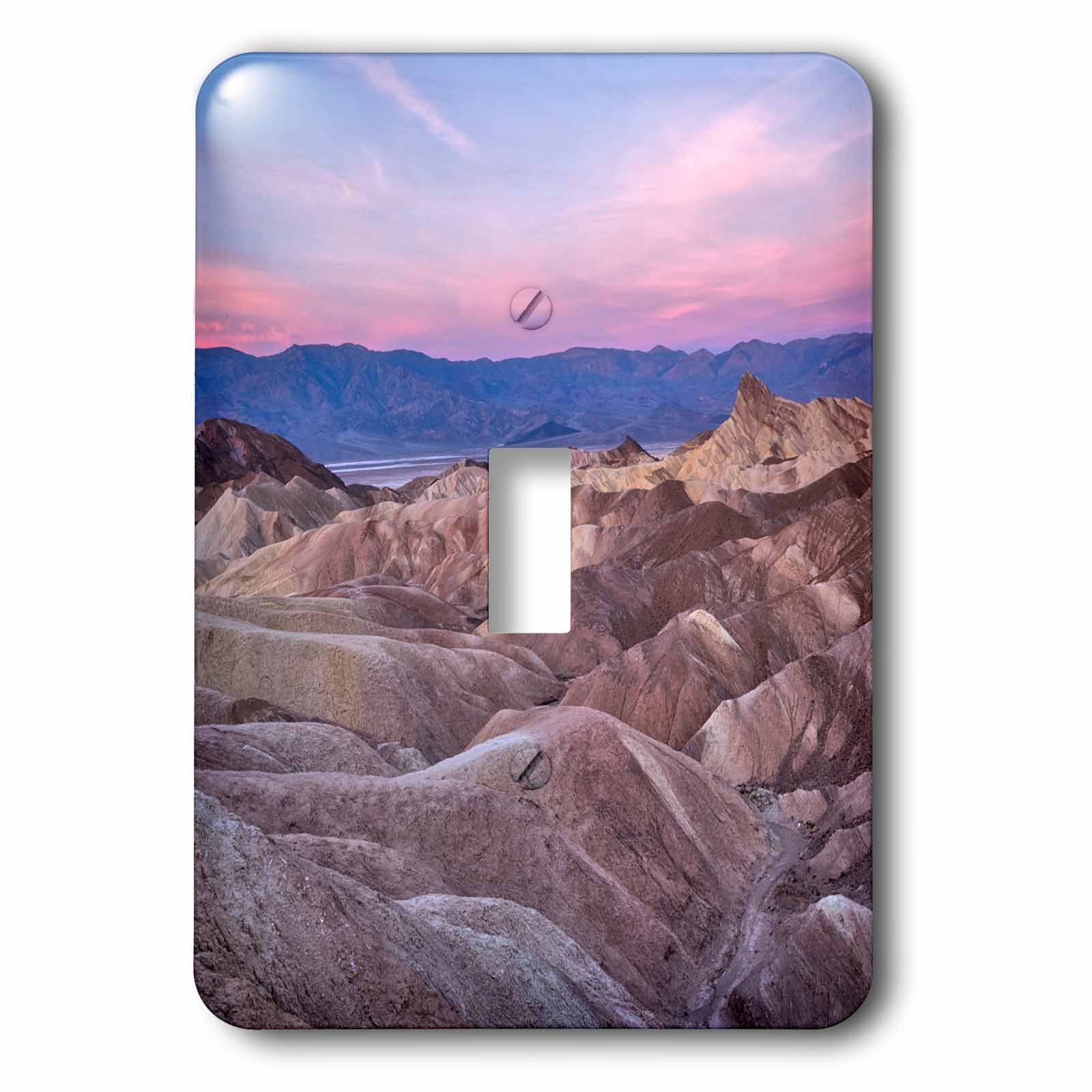 3dRose LSP_278595_1 USA, California, Death Valley. Sunrise Over Zabriskie Point Toggle Switch,