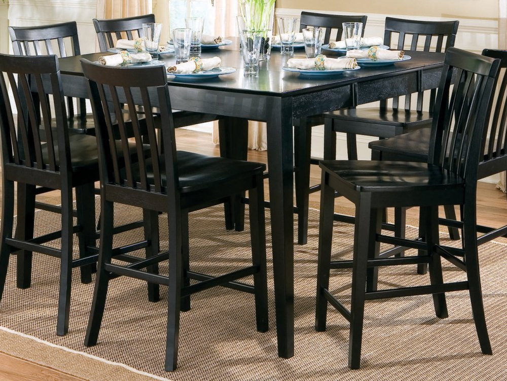Amazon.com   Contemporary Style Black Counter Height Dining Table   Tables