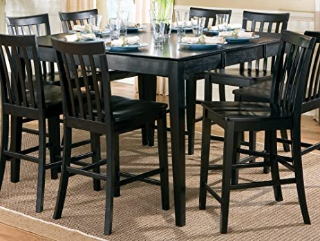 Amazoncom Contemporary Style Black Counter Height Dining Table