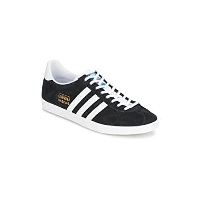sports shoes 84f38 6805e adidas Originals Gazelle OG G13265 – Mens Leather Shoes Black Size 8