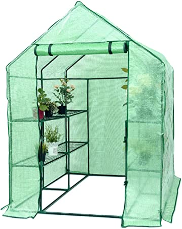 Outdoor Greenhouse Walk-in Portable Gardening Plant Hot House Backyard Garden