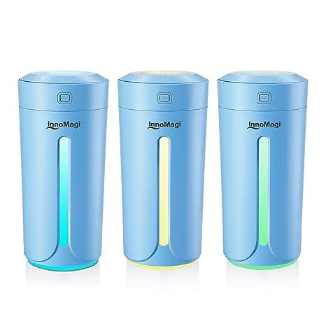 230 ml Humidificador Aromaterapia Ultrasónico , Difusor de Aceites Esenciales, 7-Color LED,