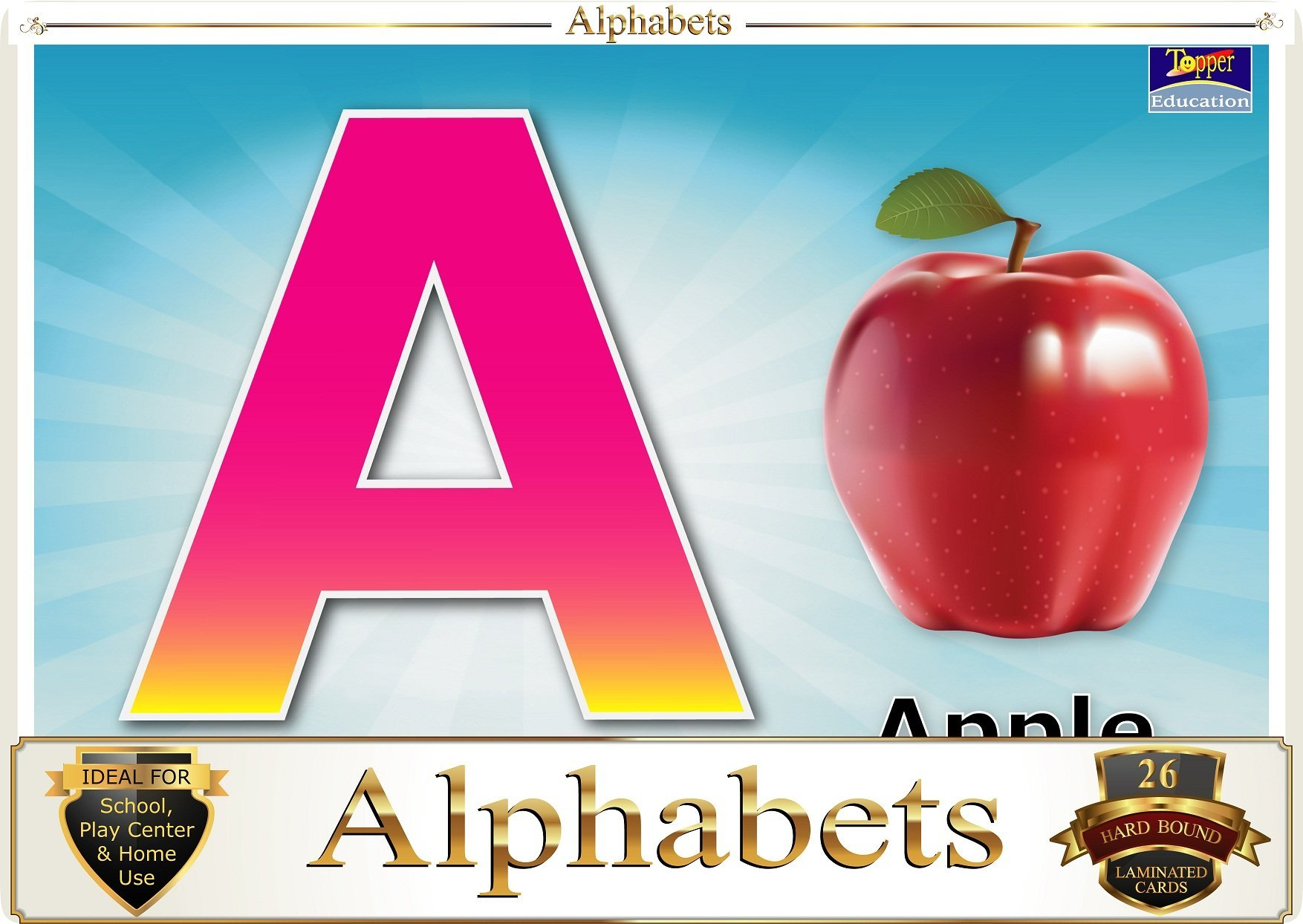 Topper : Kiddies Flash Cards - Alphabet ABC.... product image