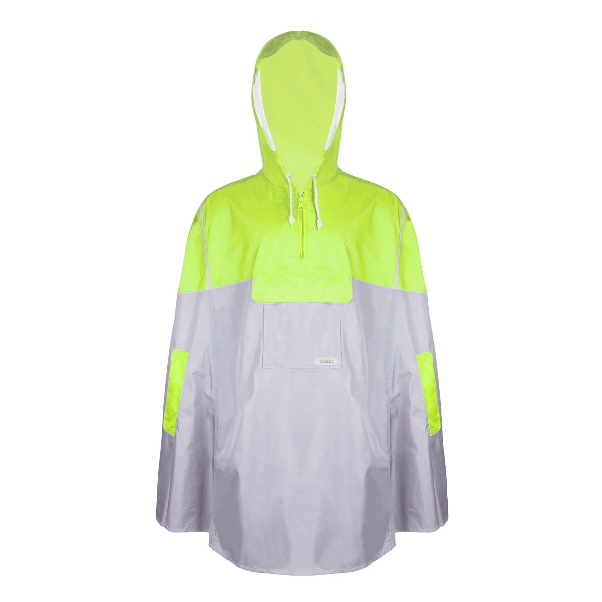 Balnna Rain Poncho with Hoods and Zipper Waterproof Raincoat for Outdoor Activities-Green by Balnna (Image #1)