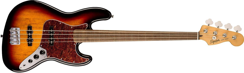 Squier by Fender エレキベース Classic Vibe '60s Jazz Bass® Fretless, Laurel Fingerboard, 3-Color Sunburst  3カラーサンバースト(フレットレス) B07N2995J8