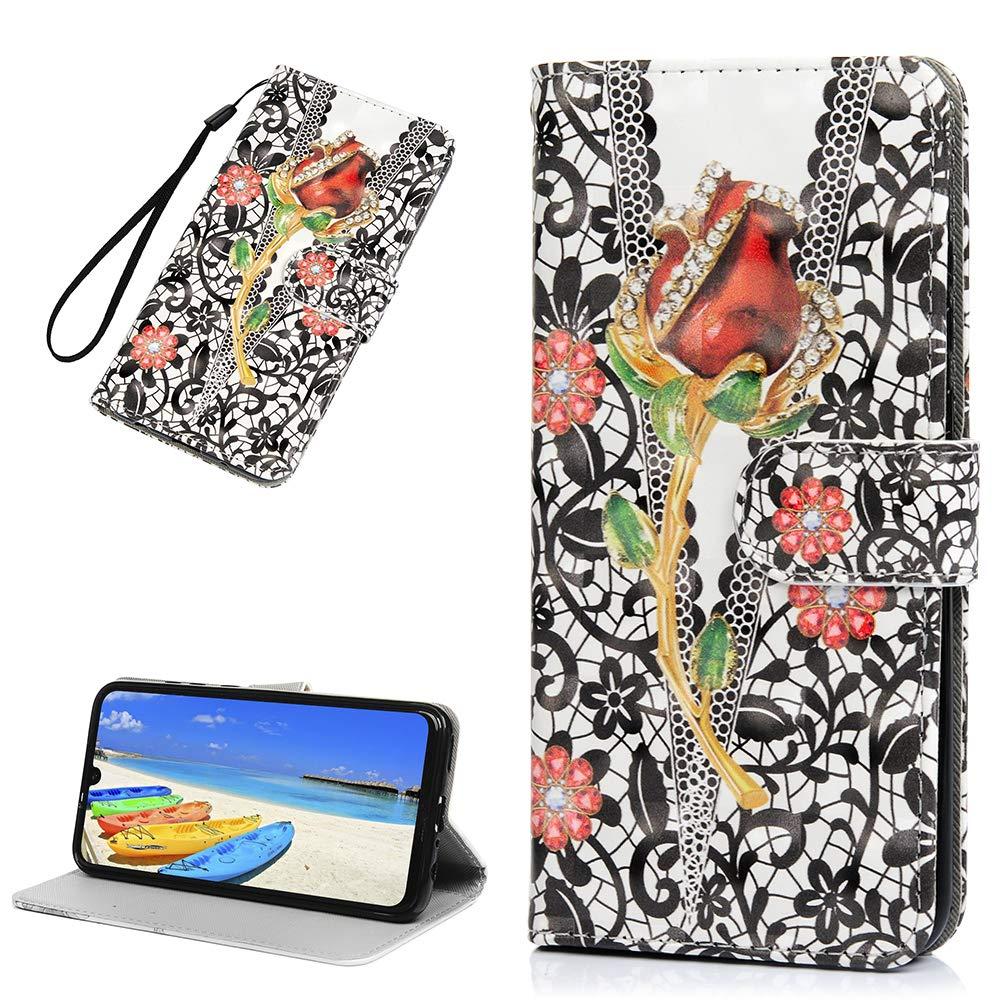 CarittiM Honor 10 Lite H/ülle Flipcase f/ür Huawei P Smart 2019 HandyH/ülle Leder Cover Case Schutzh/ülle Schutz Etui Brieftasche Flipcover Tasche mit St/änder Magnetverschluss und Innere Silikon H/ülle