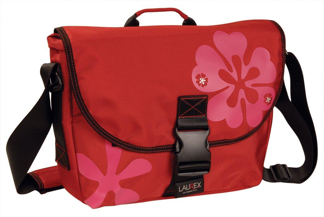 Laurex Women's Small Slim Messenger Bag,Red Clover,US