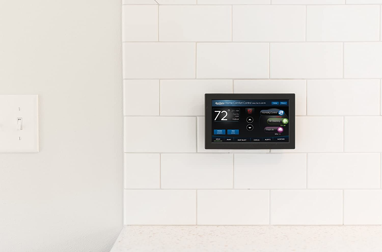 Aprilaire 8920w Color Touch Screen Wi Fi Iaq Thermostat Works With Ecobee 600 Wiring Diagram Alexa Home Improvement