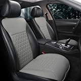 Black Panther 1 Pair Luxury PU Car Seat Covers Protectors for Front Seats