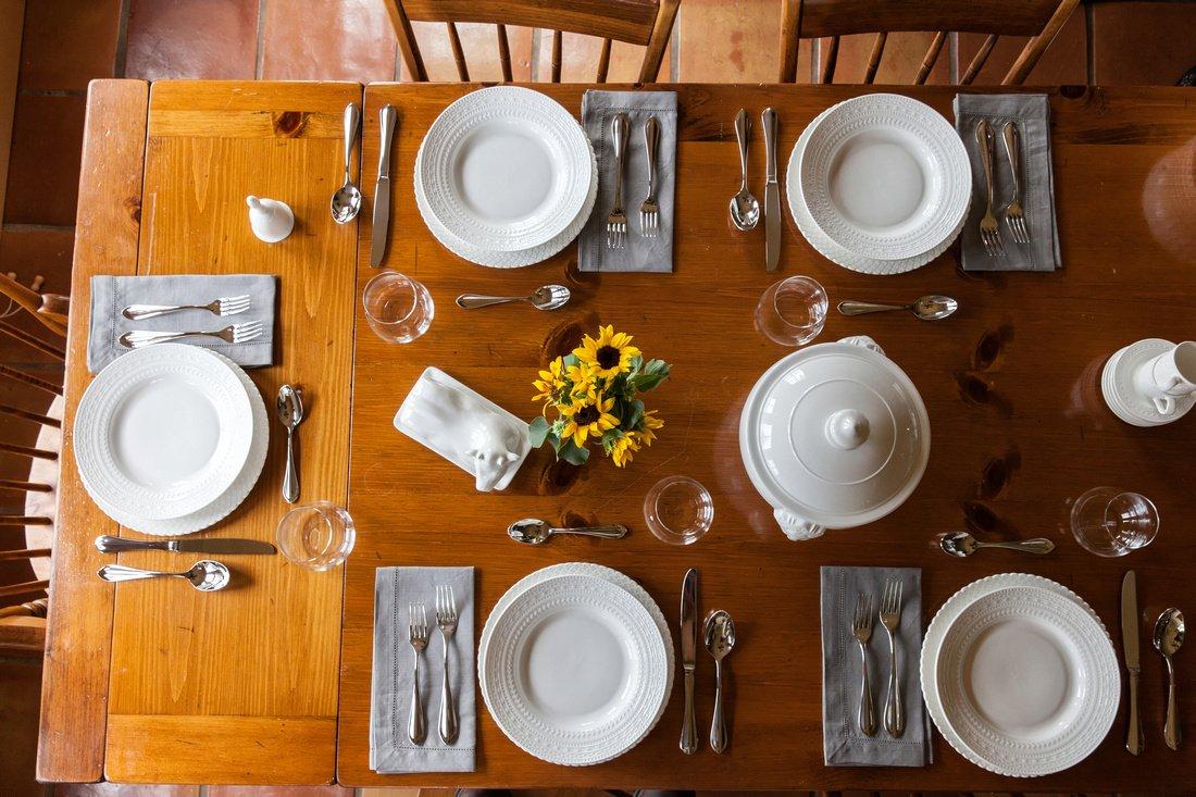 La Porcellana Bianca Casale Rim Dinner Plate, Set of 6, 10.25''