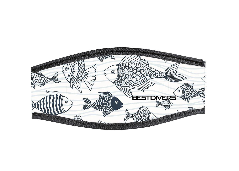 Best divers IN/BRN-DV, Cinturino Maschera in Neoprene, Doppio Velcro, Branco Unisex – Adulto, Taglia