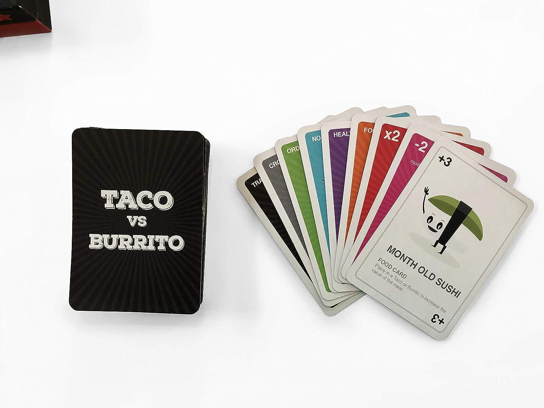 Taco vs Burrito - El muy Popular y sorprendentemente estratégico Juego de Cartas Creado por un niño de 7 años: Amazon.es: Juguetes y juegos
