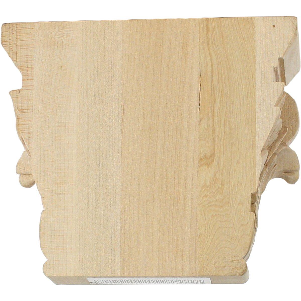 Ekena Millwork CAP06X02X05CHLW-CASE-2 Capital 6 W x 4 3//8 BW x 2 D x 5 1//2 H Lindenwood 6 W x 4 3//8 BW x 2 D x 5 1//2 H