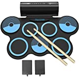 PAXCESS Electronic Drum Set 7 Pads Roll-up Practice Drum Set for Kids with Headphones, Built-in Speakers Drum Set Best…