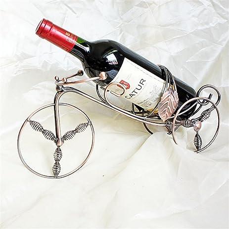 Amazoncom Cdybox Wrought Iron Wine Bottle Holder Creative