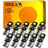 OXILAM 194 LED Bulbs, Widely Used as Car Truck Interior Dome Map Door Courtesy Marker License Plate Lights, 6000K White with