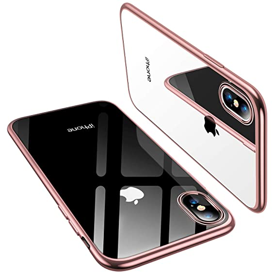 best service 5f116 4dbb9 TORRAS iPhone Xs Case/iPhone X Case, Ultra Thin Slim Fit Soft Silicone TPU  Cover Case Compatible with iPhone X/iPhone Xs 5.8 inch, Rose Gold
