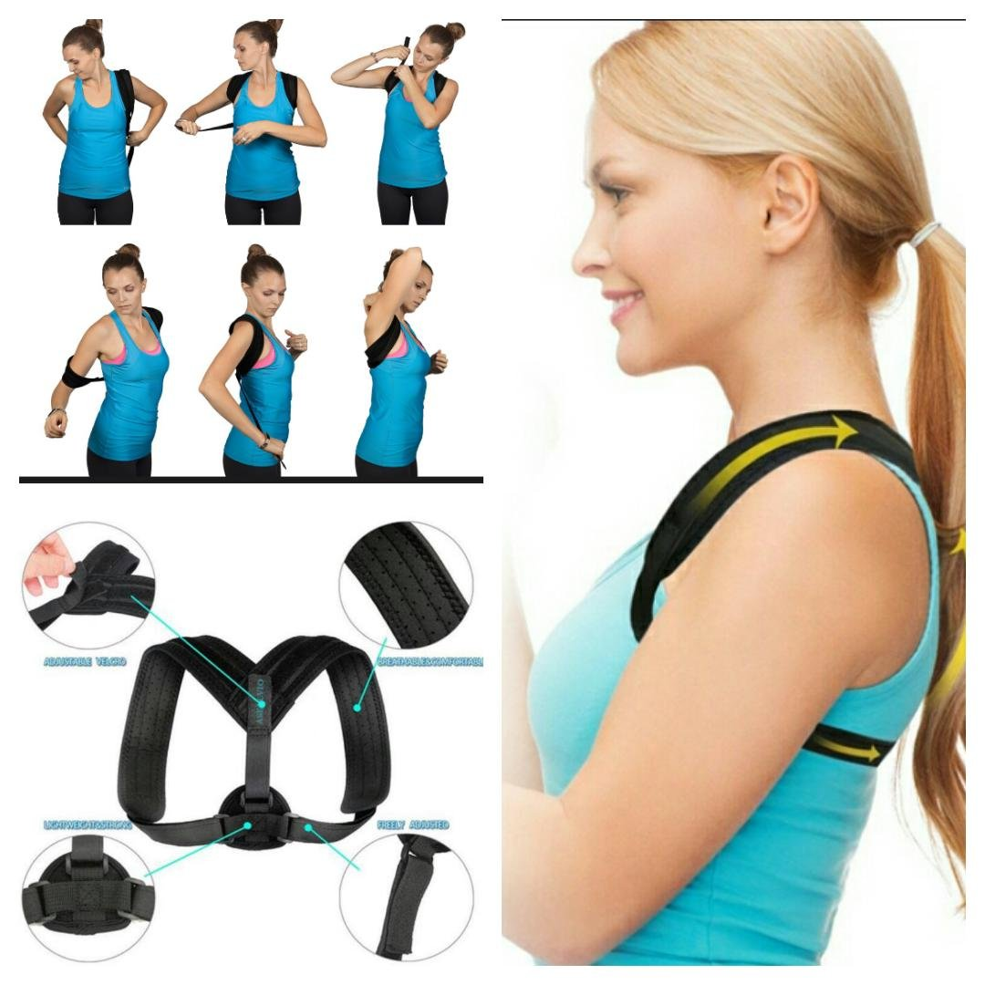 Back Posture Corrector for Men and Women by ASELLVIO Straighten Up Your Back, Shoulder, and Clavicle With Our Premium Quality Velcro Strap Kit | 3'' Extra Material In Order To Fit All Sizes In Order T