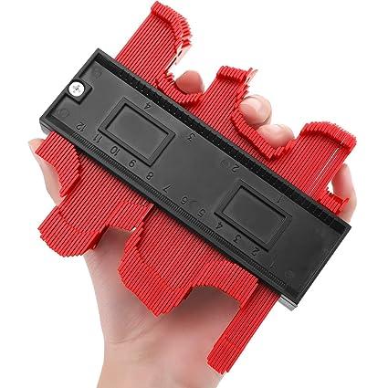 Contour Gauge Duplicator, Contour Copy Duplicator Circular Frame Profile  Gauge, Plastic Woodworking Shape Tracing Template Measuring Tool Profile  Jig