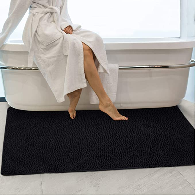 Details about  /Chinese Style Peacock Non-slip Bath Mat Bathroom Bedroom Rug door Mat 16x24Inch
