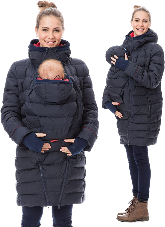 GoFuture Giacca invernale da donna per mamma e bambino modello Noorvik a marsupio 4 in 1