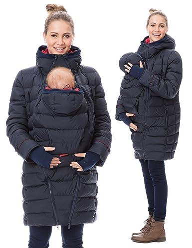 konkurrenzfähiger Preis Outlet Store Verkauf Super Rabatt GoFuture Damen Tragejacke für Mama und Baby 4in1 Känguru Jacke  Umstandsjacke Winterjacke Winter GF2265