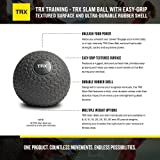 TRX Training Slam Ball, Easy-Grip Tread & Durable
