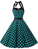 Amazon Com Dresstells Vintage 1950s Rockabilly Polka Dots