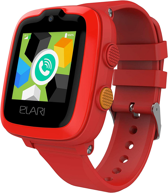 Elari Reloj Inteligente para niños, IP67 a Prueba de Agua con Llamadas de Audio y Video, 2G, 3G, 4G LTE, Soporte WiFi, Reproductor de MP3, GPS, LBS y botón dedicado SOS(KidPhone 4G Red)