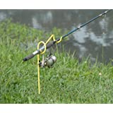 RITE-HITE Single Fishing Rod Holder - Holds Your Fishing Rod/Reel at the Optimum Angle. Great for Bank Fishing on Lakes and Streams