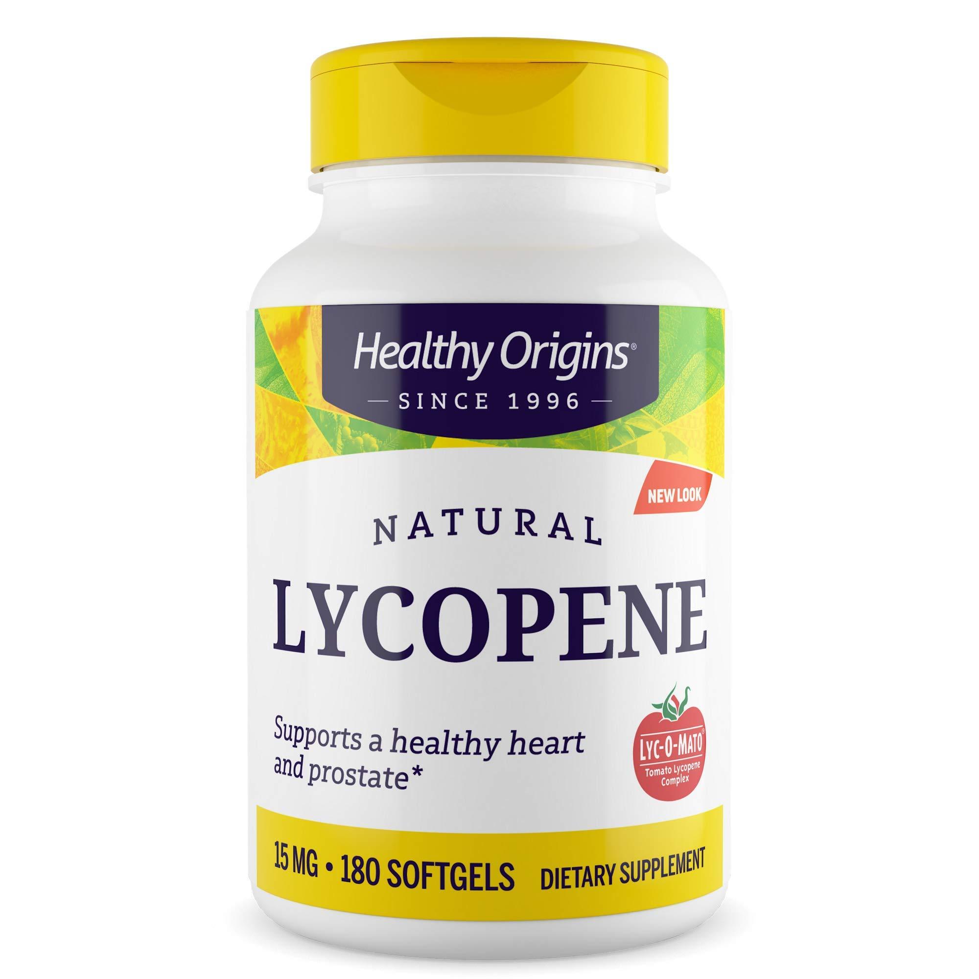 Healthy Origins LYC-O-Mato Lycopene (Non-GMO) 15 mg, 180 Softgels