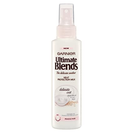 Garnier Ultimate Blends spray de protección térmica con leche de avena, 150 ml, pack