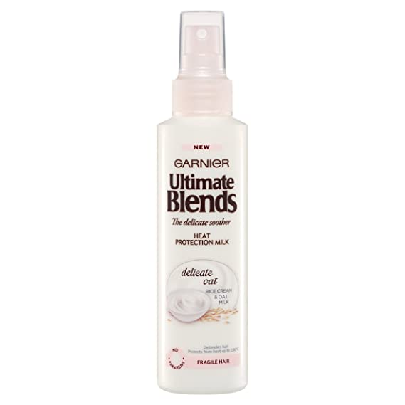 Garnier Ultimate Blends spray de protección térmica con leche de avena, 150 ml, pack de 6: Amazon.es: Belleza