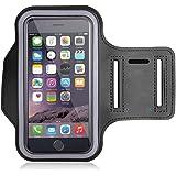 Funda Deportiva para Brazalete impermeable para el brazo, Bullspring brazalete para ejercicios de 5.5 pulgadas iPhone X 8 7 6Plus, material deportivo para deslizamiento Samsung S8 S7, resistente a los arañazos, delgado y liviano