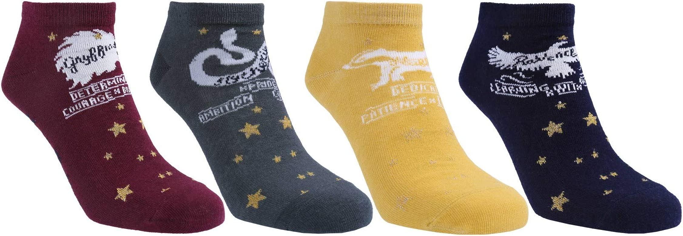 Harry Potter Shoe Liner Hogwart Badge Pack Of 4 Hosiery Socks 4-8 Primark