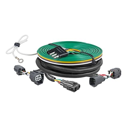 amazon com: curt 58937 custom towed-vehicle rv wiring harness for dinghy  towing select dodge nitro, jeep liberty: automotive