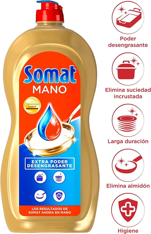 Somat Mano Poder Azul Lavavajillas - Paquete de 8 x 1028 gr ...
